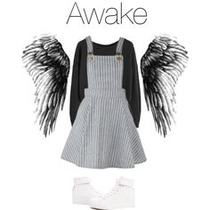 BTS Wings: Awake by kookiechu on Polyvore featuring moda and Renben