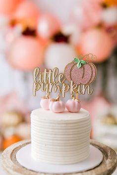 Pumpkin Birthday Cakes, Pumpkin 1st Birthdays, Pumpkin Birthday Parties, Pumpkin First Birthday, Baby Girl First Birthday, First Birthday Cakes, Birthday Cake Girls, Birthday Cake Toppers, Birthday Ideas