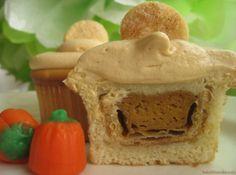 Pumpkin pie in a cupcake