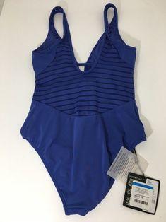 3648d46bfbc1d Ibiza - Blue / Black Parallels Women's Swimsuit One-piece Bathing Suit Size  4 (. Tradesy