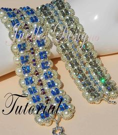 This is a tutorial for The Contessa Bracelet.    This is a bead weaving tutorial that will teach you how to stitch this beautiful bracelet. Pattern $15.00