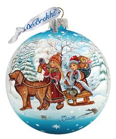 Look at this #zulilyfind! Winter Kids Glass Ball Ornament #zulilyfinds