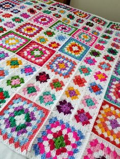 In Stock Sublime Large Crochet White GRANNY SQUARES Dolly
