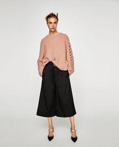 ZARA - WOMAN - SWEATER WITH BRAIDED SLEEVES