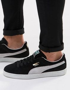 Buy Puma Suede Trainers In Black 35263403 at ASOS. With free delivery and return options (Ts&Cs apply), online shopping has never been so easy. Get the latest trends with ASOS now. Puma Suede Trainers, Suede Sneakers, Black Puma Suede, Classic Man, Fashion Online, Asos, Footwear, Shopping, Free Delivery