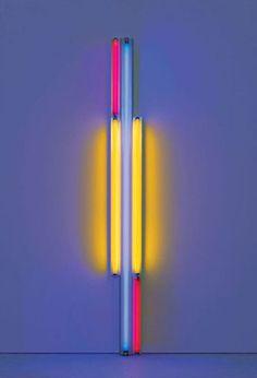 Dan Flavin – untitled (to Piet Mondrian) 1985 Mehr Piet Mondrian, Joan Mitchell, Andy Warhol, Art Is Dead, Dan Flavin, Frieze Art Fair, Pop Art, Light Installation, Environmental Art