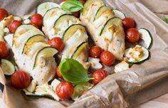 Saftiges Hähnchen mit mediterranem Grillgemüse. Lecker und Low Carb - mit gerade mal 3,5g KH pro Portion! Toll auch für Sportler!