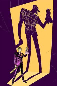 "xombiedirge: "" Joker & Harley by Riley Rossmo """
