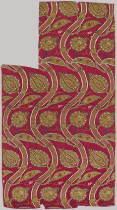ca. 1565–80, Turkey. Fragmentary Loom Width with Wavy-vine Pattern