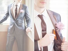 leather trim suit