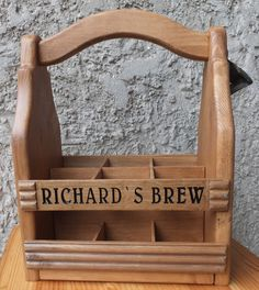 Wood Beer Carrier Wooden Beer tote Six Pack Caddy