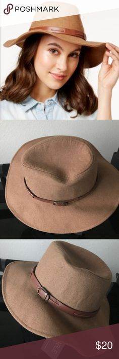 international concepts belted band Panama hat. international concepts belted band Panama hat. Color Camel INC International Concepts Accessories Hats