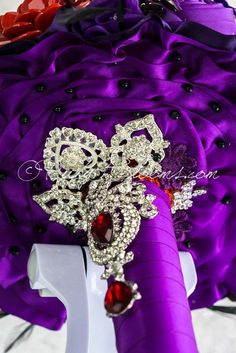 Purple Inspiration | Wedding brooch bouquets, Brooch bouquets and ...