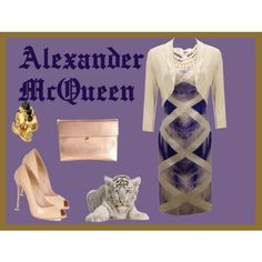 Alexander McQueen by tarlily on Polyvore featuring Alexander McQueen, Monsoon and Carolee