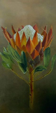 Protea Art, King Art, Flowers, Painting, Painting Art, Paintings, Flower, Blossoms