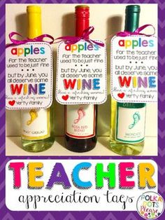 Who doesn't love a refreshing and relaxing gift? These labels are perfect for teacher appreciation, summer, or end of the school year. Just print them and personalize! There are labels included for both May and June and for classrooms with one teacher or more than one teacher.