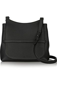 The Row Sideby textured-leather shoulder bag   NET-A-PORTER
