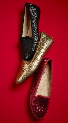 Glittery UGG flats - I'll take a pair in each color, please!
