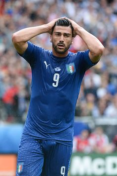 #EURO2016 Graziano Pelle of Italy looks dejected