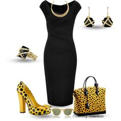 """""""Black & Yellow"""" by oribeauty-cosmeticos on Polyvore"""