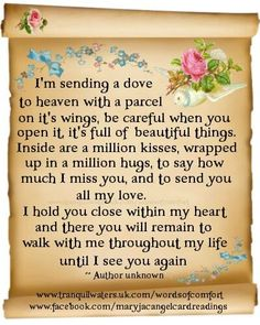 Angels in Heaven ** on Pinterest | Mom In Heaven, Miss You and In ... via Relatably.com