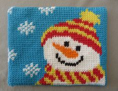 J. Erin Boland's Snowman Hotpad is the jolliest of kitchen helpers! Done in csc with Lily's Sugar 'n Cream yarn