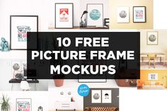 Ten free picture frame mockup images to download. Easily create stunning photo frame mockups and showcase your artwork and designs.