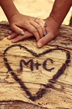 Couples photography engagement! this would be cute with the heart and initials written in sand on a beach- MV