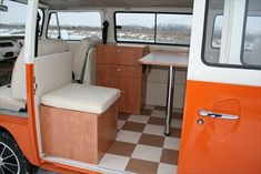 Potential layout?  The Camper Shak - Hand Crafted VW Camper Interiors  @Scott Doorley Doorley Matlock