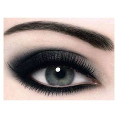 Black-Silver smokey eye ❤ liked on Polyvore featuring beauty products, makeup, eye makeup, eyes and beauty