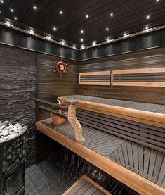 Of all the facilities you can use in a spa, the most popular one has to be a sauna. Diy Sauna, Sauna Steam Room, Sauna Room, Sauna Lights, Modern Saunas, Piscina Spa, Sauna Seca, Indoor Sauna, Sauna House