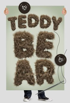 #font #typography #lettering #calligraphy #fur Teddy bear font