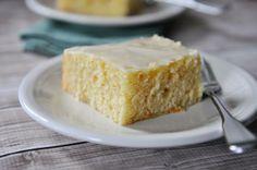 Glazed Lemon Yogurt Sheet Cake   Mel's Kitchen Cafe