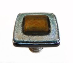 Glass Cabinet Knob in Silver and Bronze by UneekGlassFusions.  $26.00 www.uneekglassfusions.com.  Coordinating Glass Pulls or Handles available.