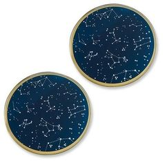 NEW-Kate-Aspen-Under-the-Stars-Glass-Party-Coasters-12-count