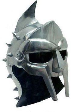 More gladiator helmets and masks Gladiator Movie, Gladiator Helmet, Spartan Helmet Tattoo, Helmet Armor, Armadura Medieval, Mask Tattoo, Cosplay Armor, Knight Armor, Medieval Armor