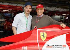 Daniel Brül and Niki Lauda