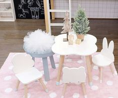 Wooden Kids Table and Chairs Set - Minime – Mini Me Ltd Kids Table Chair Set, Baby Table, Wooden Table And Chairs, Kid Table, Small Accent Chairs, Accent Chairs For Living Room, Mini Me, Diy Kids Furniture, Furniture Ads