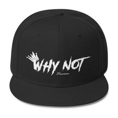 """WHY NOT"" PUFF EMBROIDERED SNAPBACK- TRAVIESO"