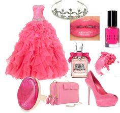 """Pink Princess"" by desislavapavlova ❤ liked on Polyvore"