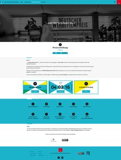DEUTSCHER WERBEFILMPREIS  Responsive Website