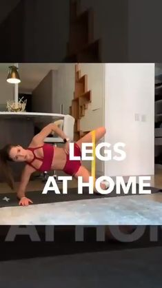 Legs and glutes workout at home. Resistance bands are all you need for this workout routine. Fitness Workouts, Exercise Fitness, Gym Workout Videos, Fitness Workout For Women, Glute Workouts, Band Workouts, At Home Workout Plan, At Home Workouts, Slim Waist Workout