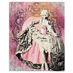 Marie Antoinette, digital print, vintage burlesque, photomontage,... (215 HRK) ❤ liked on Polyvore featuring home, home decor and wall art