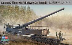 1/72 German 280mm K5E Railway Gun Leopold (hbo82903) HobbyBoss Plastic Model Military Vehicles