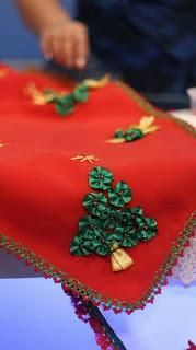 Hermosas ideas y tutorial para hacer caminos de mesa navideños - Paperblog