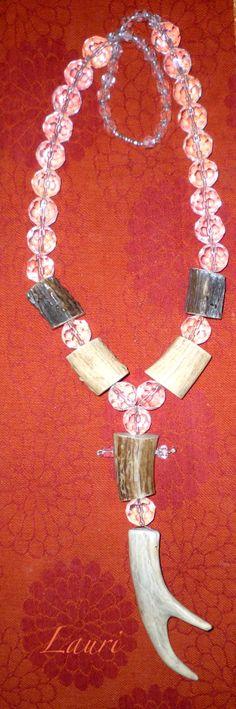 antler art necklace by Leoh