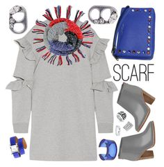 """""""Chillin' Out with Scarf"""" by petalp ❤ liked on Polyvore featuring Steve J & Yoni P, Hermès, Ted Baker, Lizzie Fortunato Jewels, Belle Etoile, Belk Silverworks, David Yurman, Marc Jacobs and ootd"""