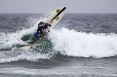 """Mo Freitas, overall champ of the US SUP Tour's first stop, with his trusty """" Ripper X """" @Sandy Silva Journal #sup"""