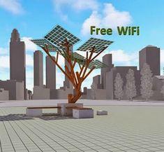 Conozca los 'arboles' solares de Israel, fuentes de electricidad y wi-fi
