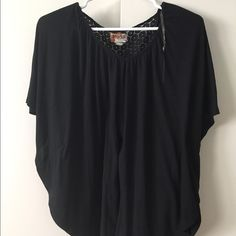 Ladies Mudd top w/ lace back Mudd blouse with lace back. Mudd Tops Blouses